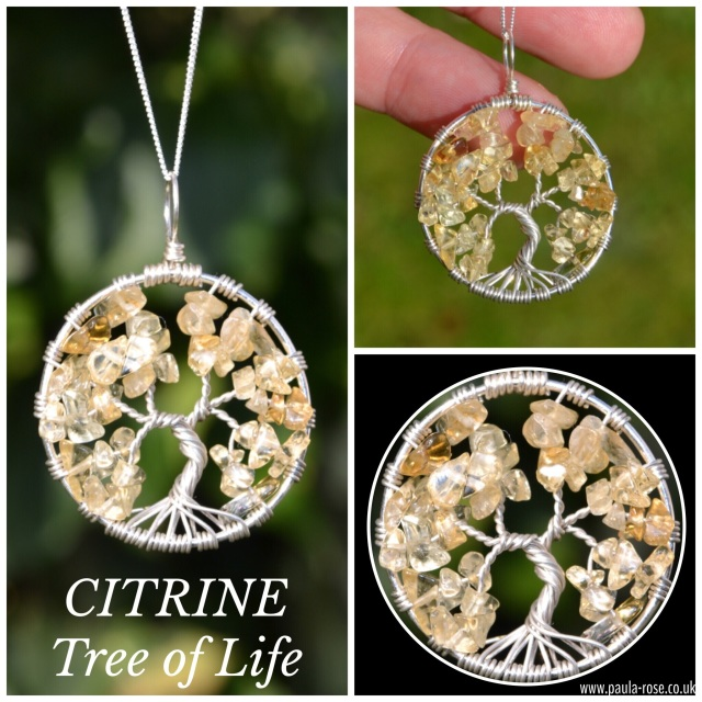 November birthstone citrine citrine sterling silver hand wired tree of life pendant can do energy personal power manifestation creativity wealth solar plexus aloadofball Choice Image