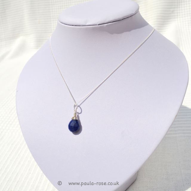 wish necklace boho by jewelry crystal mint sodalite products pendant gold